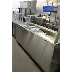 """STEAM TABLE, SNEEZE GUARD ETC. 87"""" IN LENGTH"""