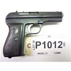 CZ, MODEL 27, CALIBER 7.65MM