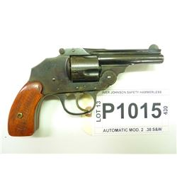 IVER JOHNSON, MODEL SAFETY HAMMERLESS AUTO MOD2, CALIBER .38 S&W