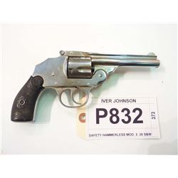 IVER JOHNSON, MODEL SAFETY HAMMERLESS, CALIBER .38 S&W