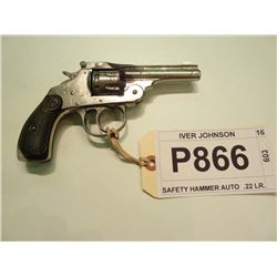 IVER JOHNSON, MODEL SAFETY HAMMER AUTO, CALIBER .22 LR.