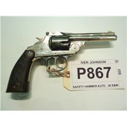 IVER JOHNSON, MODEL SAFETY HAMMER AUTO, CALIBER .38 S&W