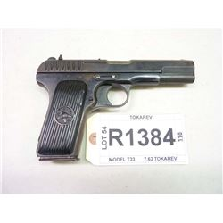 TOKAREV, MODEL T33 DATED 1935, CALIBER 7.62 TOKAREV