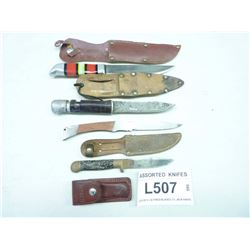 ASSORTED  KNIFES AND SHEATHS