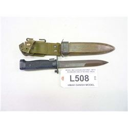 MODEL M62 GARAND BAYONET, WITH SCABBORD AND ATTACHED FROG