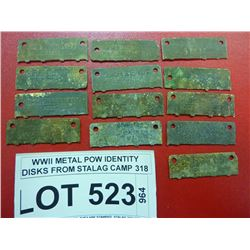 WWII METAL POW IDENTITY DISKS FROM STALAG CAMP 318