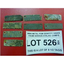 WWII METAL POW IDENTITY DISKS FROM VARIOUS STALAG CAMPS