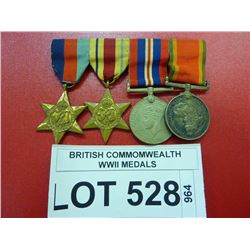 BRITISH COMMOMWEALTH WWII MEDALS