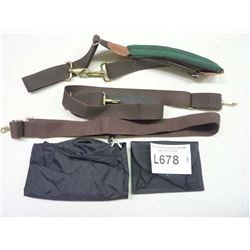 LOT OF SHOULDER STRAPS AND POUCHES