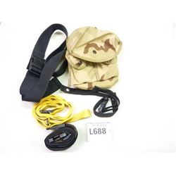 NYLON POUCH WITH BELT AND 3 NYLON STRAPS