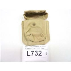 WWII CANVAS AMMO POUCH STAMPED 1941 VERY FAINT