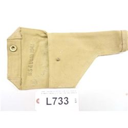 WWII CANVAS HOLSTER   FOR HIGH POWER, STAMPED MS & ULTD 1941, CND BRD ARROW