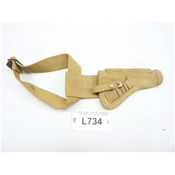 WWII CANVAS HOLSTER, FOR WEBLEY STAMPED 1942 ,CND BRD ARROW