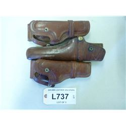 BROWN LEATHER HOLSTERS