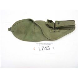 HIGH POWER MILITARY HOLSTER GREEN CANVAS DATED 1958/OR 53