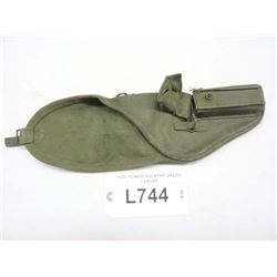 HIGH POWER MILITARYHOLSTER GREEN CANVAS