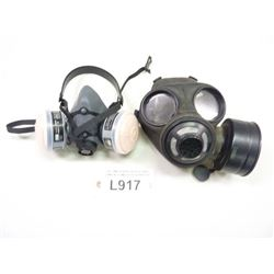 GAS MASK AND NORTH 5500-30M HALF MASK RESPIRATOR