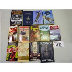 PAPERPACK BOOKS  ASST LOT OF 12