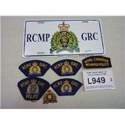 RCMP ASSORTMENT OF COLLECTABLE ITEMS