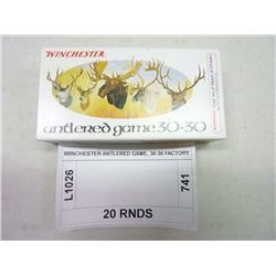 WINCHESTER ANTLERED GAME, 30-30 FACTORY