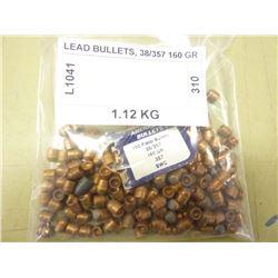 LEAD BULLETS, 38/357 160 GR