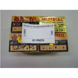 16 GA X 2 3/4 SHOTGUN SHELLS