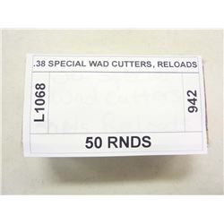 .38 SPECIAL WAD CUTTERS, RELOADS