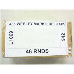 .455 WEBLEY MARKII, RELOADS