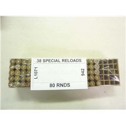 .38 SPECIAL RELOADS