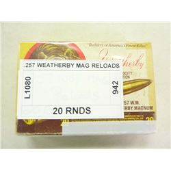 .257 WEATHERBY MAG RELOADS