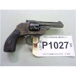 IVER JOHNSON, MODEL SAFETY HAMMERLESS AUTO MOD 3, CALIBER .32 S&W