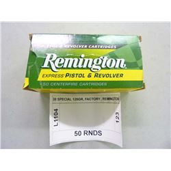 38 SPECIAL 125GR, FACTORY, REMINGTON