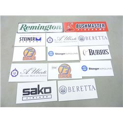 LOT OF COROPLAST SIGNS
