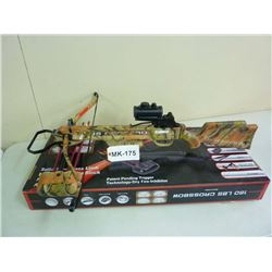 CROSSBOW , NEW IN BOX, RECURVE, 210 FPS, 160 LB. DRAW,MK 175