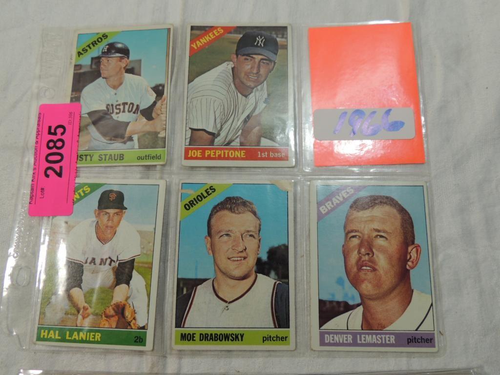 Lot 5 1966 Baseball Cardslanier Staub Lemaster
