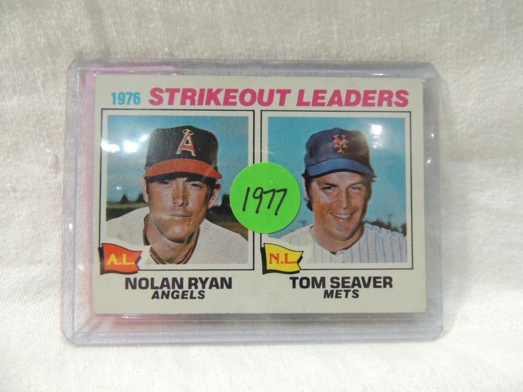 1977 Topps Nolan Ryan Tom Seaver Baseball Card