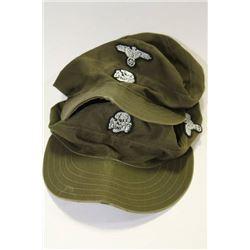PAIR OF NAZI SS PROP HATS