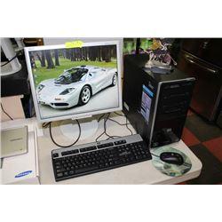 HP PAVILION DESKTOP TOWER W/ WIN 8.1 PRO/ 4GB RAM
