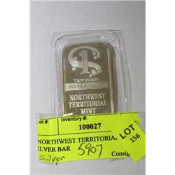 NORTHWEST TERRITORIAL 1OZ .999 SILVER BAR