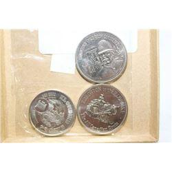 THREE KLONDIKE DAYS 1970'S COLLECTOR COINS