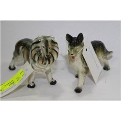PAIR OF DOG ORNAMENTS