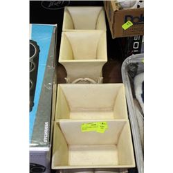 SET OF 4 IVORY LOOK PLANTER BOXES