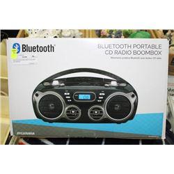 BLUETOOTH PORTABLE CD RADIO BOOMBOX