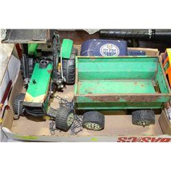 BOX WITH CLASSIC TONKA TRACTOR W/TRAILER