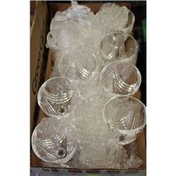 9 VINTAGE CRYSTAL TALL WINE GLASSES