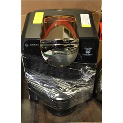 BLACK TASSIMO BVERAGE POD MACHINE WITH WATER