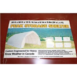 20'x30'x12' PEAK STORAGE SHELTER