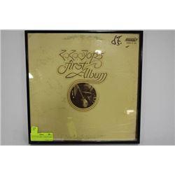 1971 ZZ TOP'S FIRST ALBUM FRAMED
