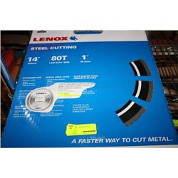 "LENOX 14"" CARBIDE TIPPED CUTTING WHEEL"