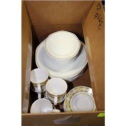 ESTATE BOX WITH NORTAKE CHINA